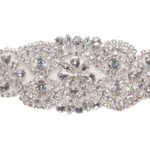 Aplicación/cinturón joya para novia y fiesta