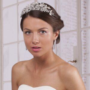 Tiara / diadema flexible para novia y fiesta